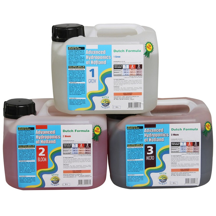 Advanced Hydroponics Set Grow, Bloom, Micro 5 L
