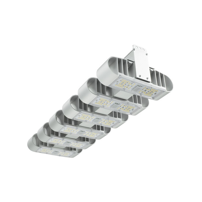 Lucilu Shuttle 6 LED-Growlampe 240 W dimmbar silber